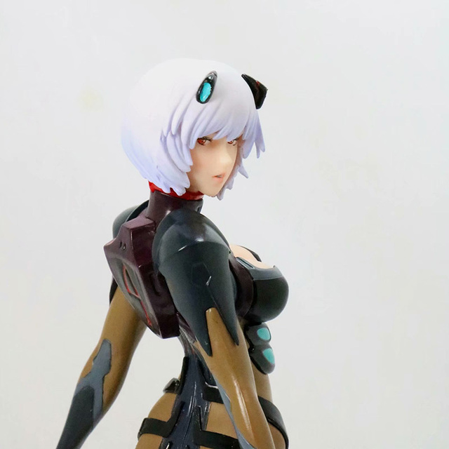 Black / White Version Evangelion Ayanami Action Figure EVA Ayanami Rei PVC figure Kids Toy Gifts no retail box (Chinese Version) 3