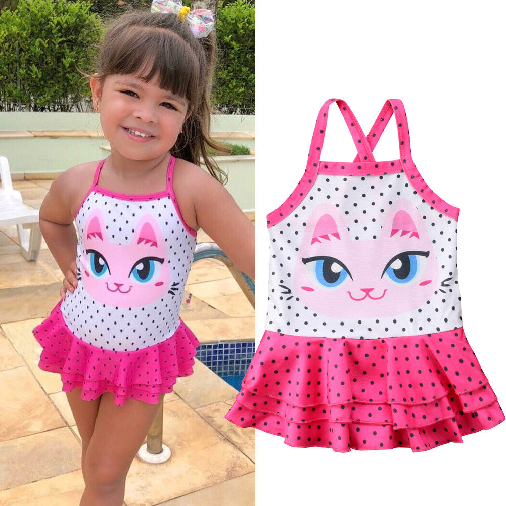 943344a323880 2018 Lovely Swimwear Toddler Baby Girl Tankini Polka Dots Bikini Sleeveless Swimwear  Swimsuit Bathing Toddler Girls