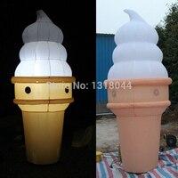 2016熱い販売インフレータブルアイスクリームコーン、インフレータブルアイスクリームでledライト用ショップ広告