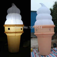 2018 Hot sale inflatable ice cream cone, inflatable ice cream with led lights for shop advertising