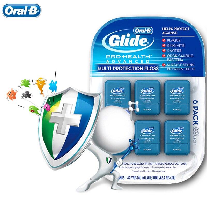 6 Stücke = 1 Paket Dental Flosser Liberal Oral Boral Dusche Multi-schutz Zahnseide Gum Pflege Mundhygiene Flach Gewinde Flosser Cool Mint 43.7yd/40 Mt