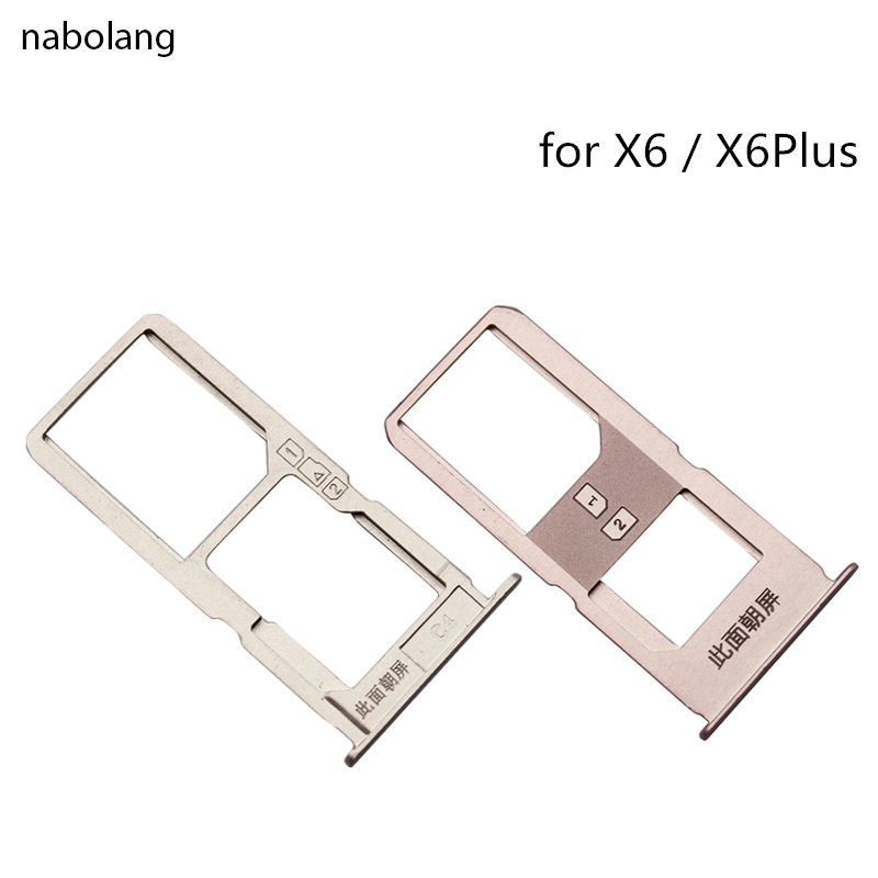 Nabolang for VIVO <font><b>x6</b></font> Plus x6Plus SIM <font><b>Card</b></font> Tray Slot Holder Adapter Replacement Parts Repair Spare Part Cheap <font><b>Phones</b></font> Accessories