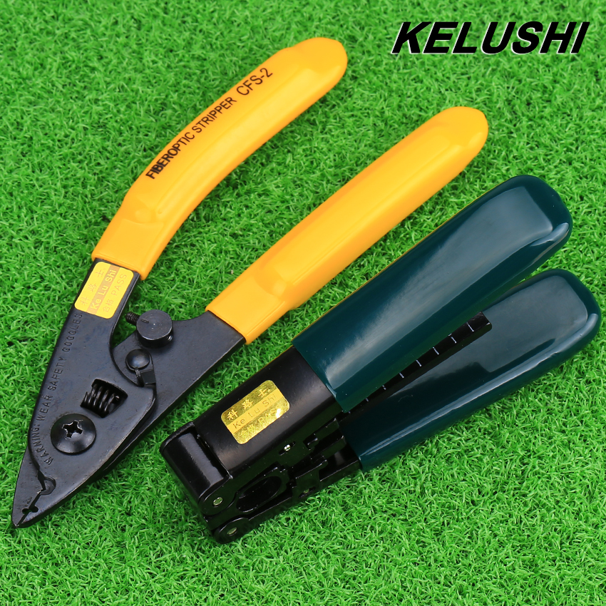 KELUSHI FTTH splice fiber optic tool kit Pixian Fiber stripper and double hole fiber optic miller