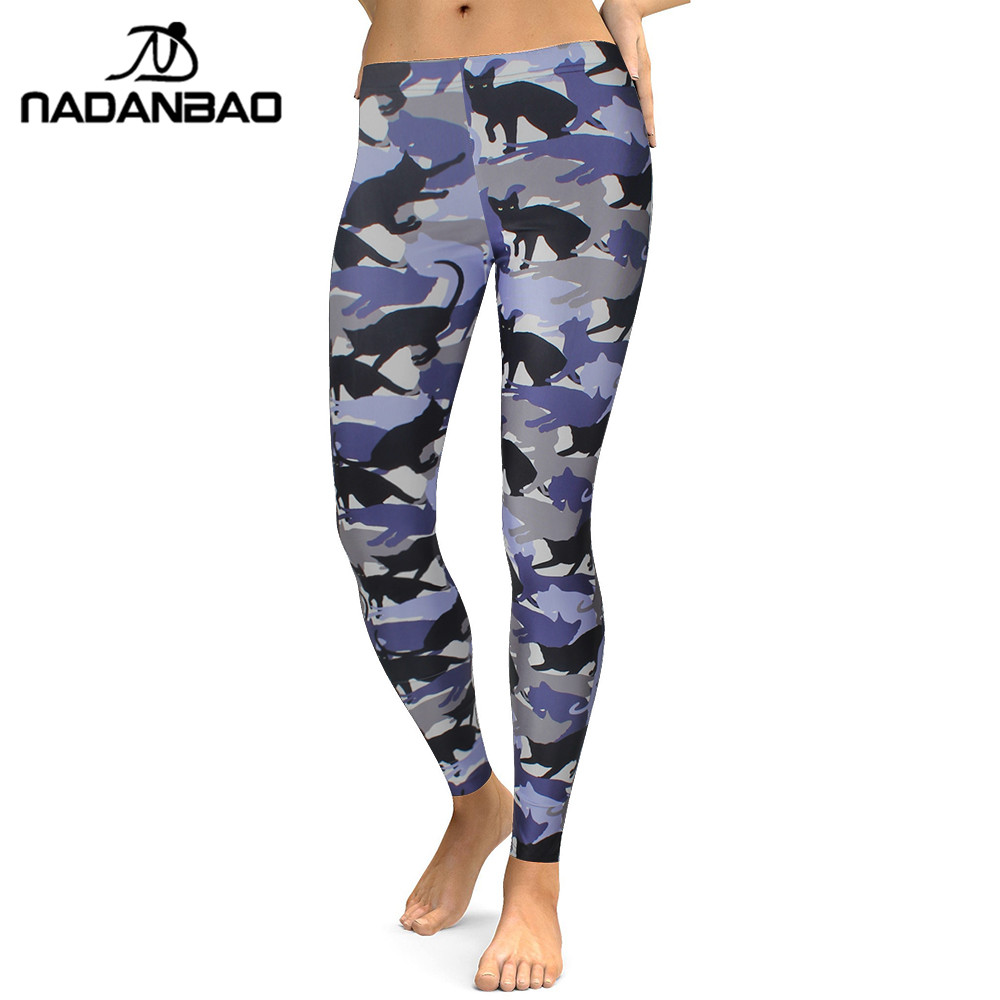 NADANBAO 2019 Leggings Women Animal Cat Legging Digital Print Fitness Leggins Slim High Waist Plus Size Workout Pants Legins