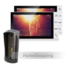 New Wired 9″ Color Screen Video Door phone Intercom System + 2 Monitors + 1 Waterproof Door bell Camera In Stock Free Shipping