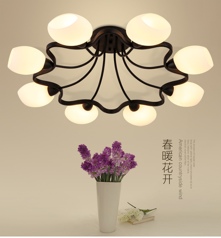 American country living room ceiling lamp warm modern minimalist bedroom lights Nordic glass iron childrens room lampAmerican country living room ceiling lamp warm modern minimalist bedroom lights Nordic glass iron childrens room lamp