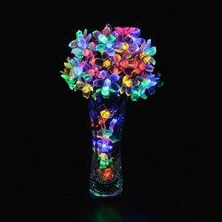 10 متر 100 LED عيد الميلاد سلسلة أضواء الكرز زهر الزهور مصابيح Led الجنية أضواء الزفاف حزب الطوق في الهواء الطلق الديكور