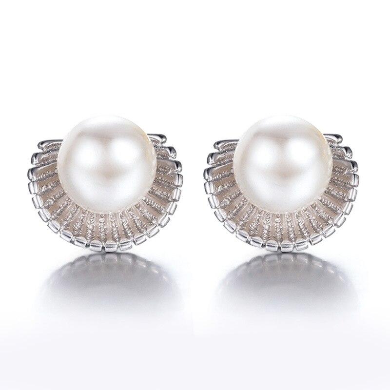 928cd67d221 Prata brincos de opala pedra da Norma imitação jóia da pérola moda feminina  jóias de alta qualidade rodada 8 MM