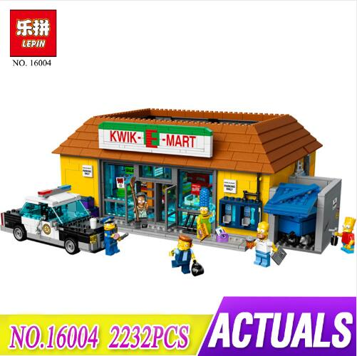 New LEPIN 16004 Simpsons Action Model 2232Pcs Building Block Brick Compatible LegoING 71016 for kids gift