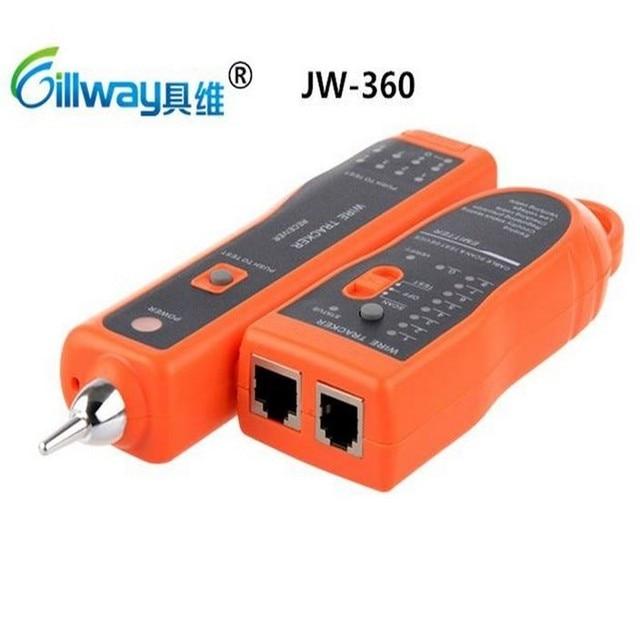 200 шт./лот JW-360 Телефонный Провод Tracker Tracer С Ethernet RJ45 Cat5 Cat6 LAN Сетевой Кабель Тестер Детектор Линии Finder