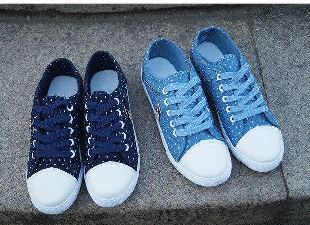 Blue Dot Tennis Shoes 6