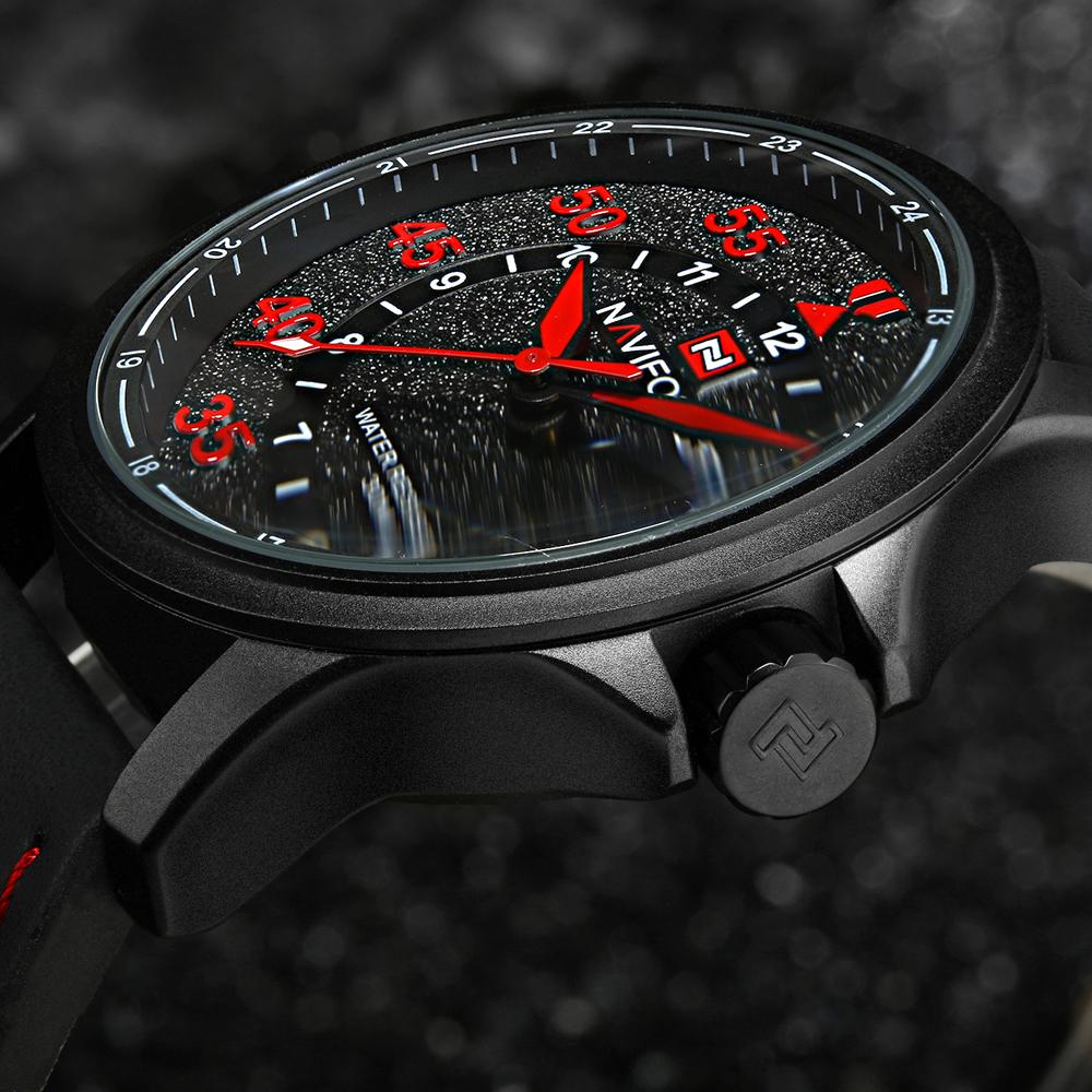 Prix pour NAVIFORCE Marque de Mode Casual Montres Hommes 3ATM Imperméable Quartz Montre Hommes Date Horloge Homme En Cuir Armée Militaire Montre-Bracelet