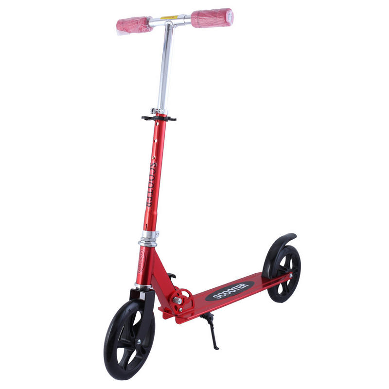 XLL 20MM PU Wheel Scooter, Adjustable Height Adult Scooters, Foldable Adult Kick Scooter, Aluminum Alloy Standing Scooter ancheer new brand kick scooter for adult adjustable height adult scooter foldable trottinette adulte patinete adulto
