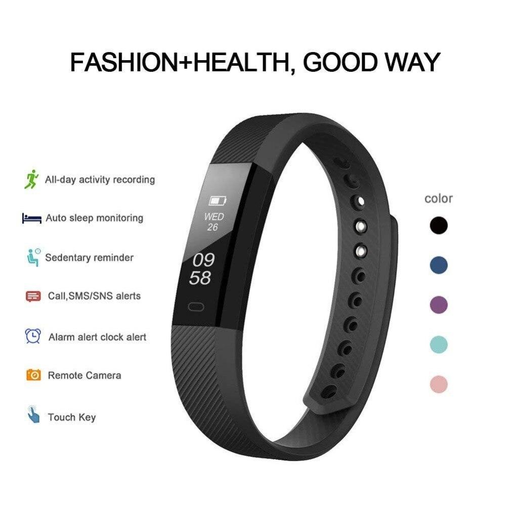<font><b>Fitness</b></font> Bracelet ID 115 Smart Bracelet Clock Watch For xiaomi pk