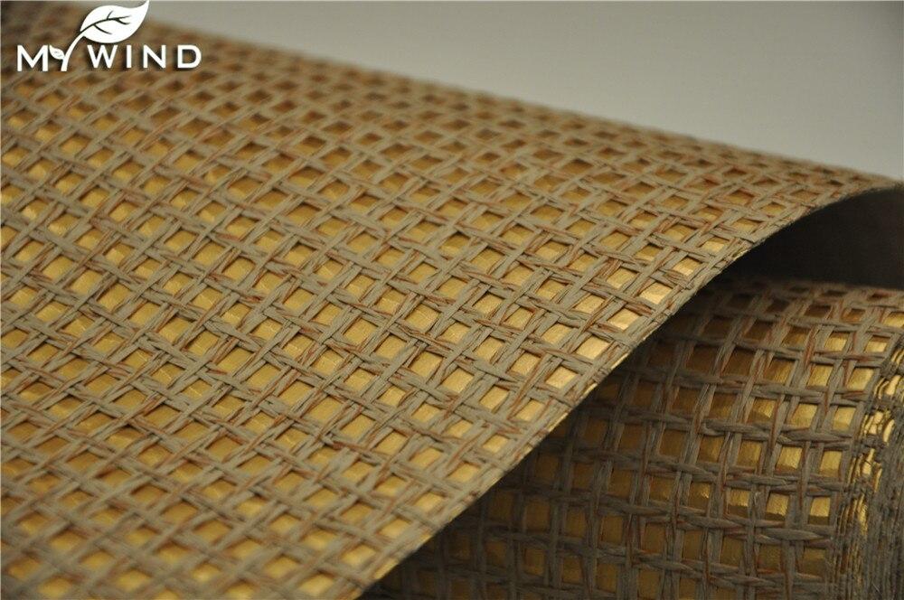 de oro de la pared de papel hogar interior de textura natural grasscloth wallpaper for