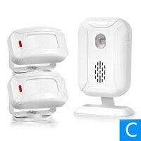 For Store Shop Bar Doorbell Alarm Welcome Chime Wireless Infrared IR Motion Sensor Door Bell Alarm