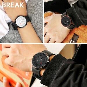 Image 5 - Przerwa minimalistyczny luksusowy zegarek marki mężczyźni kobiety czarna wodoodporna moda Casual wojskowe kwarcowe zegarki sportowe
