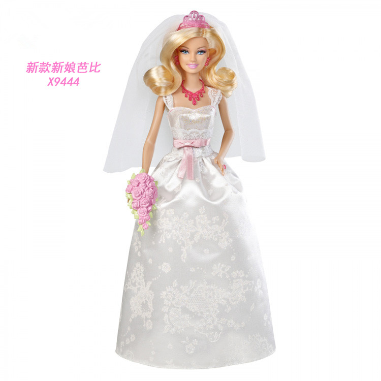 ФОТО Free Shipping,Christmas Gift,Girl Birthday Gift Toy Original Doll bride doll geninue doll accessories For Barbie Doll