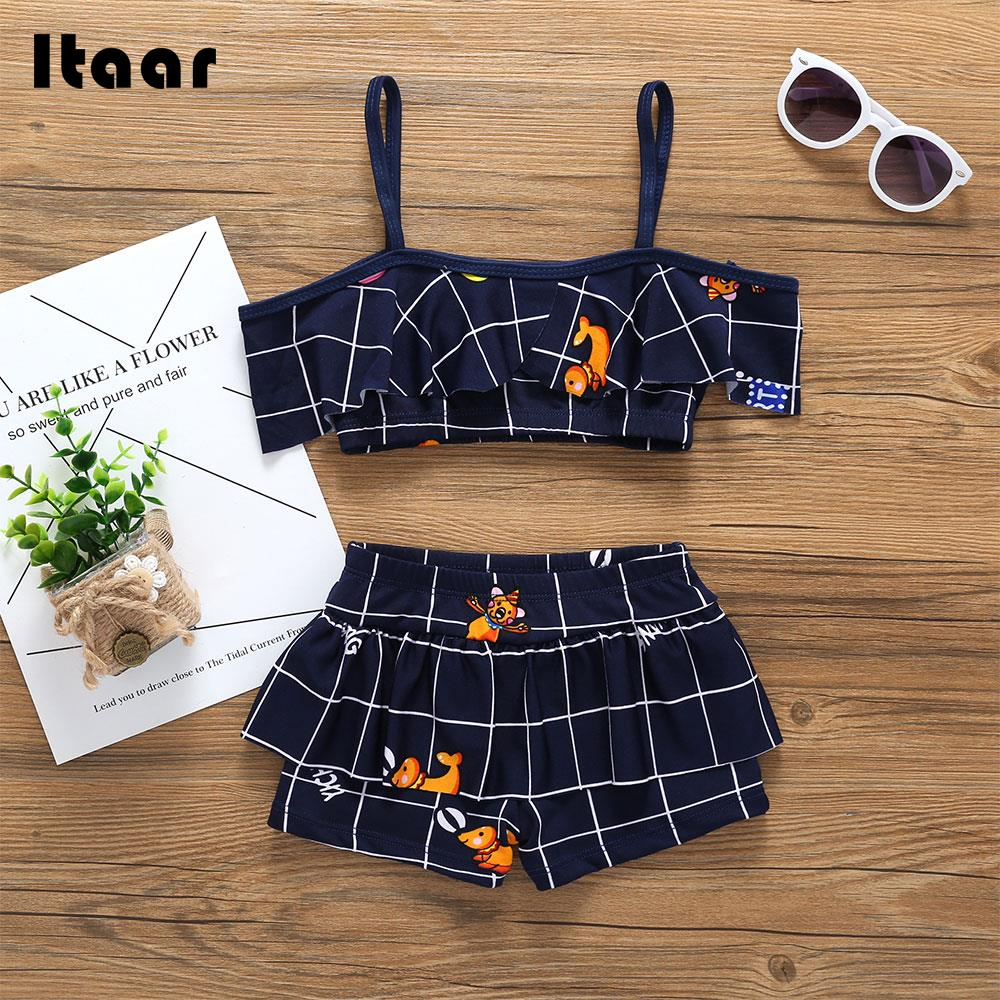 Children Swimwear Pool Kids Swimwear Swimwear Children Girls Beachwear Laced Beach Cartoon