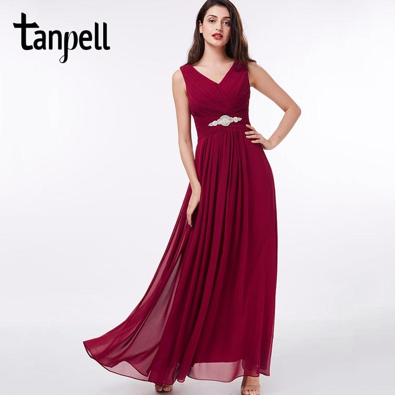 Tanpell lång v-halsa klänning billig sexig svart Golvlängd - Särskilda tillfällen klänningar - Foto 1
