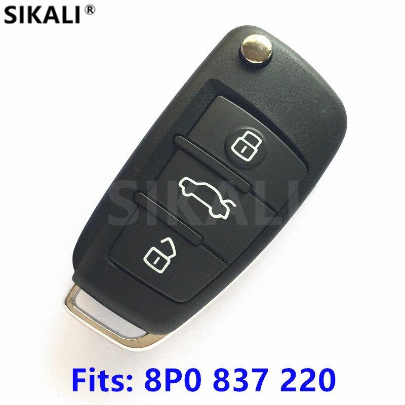 Удаленный ключевой для Audi 8P0837220/5FA009272-10 автомобиля A3 S3 A4 S4 TT 434 мГц с ID48 чип 2005 2006 2007 2008 2009 2010 2011 2012 2013