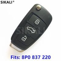 Remote Key For 8P0837220 5FA009272 10 Car A3 S3 A4 S4 TT 434MHz With ID48 Chip