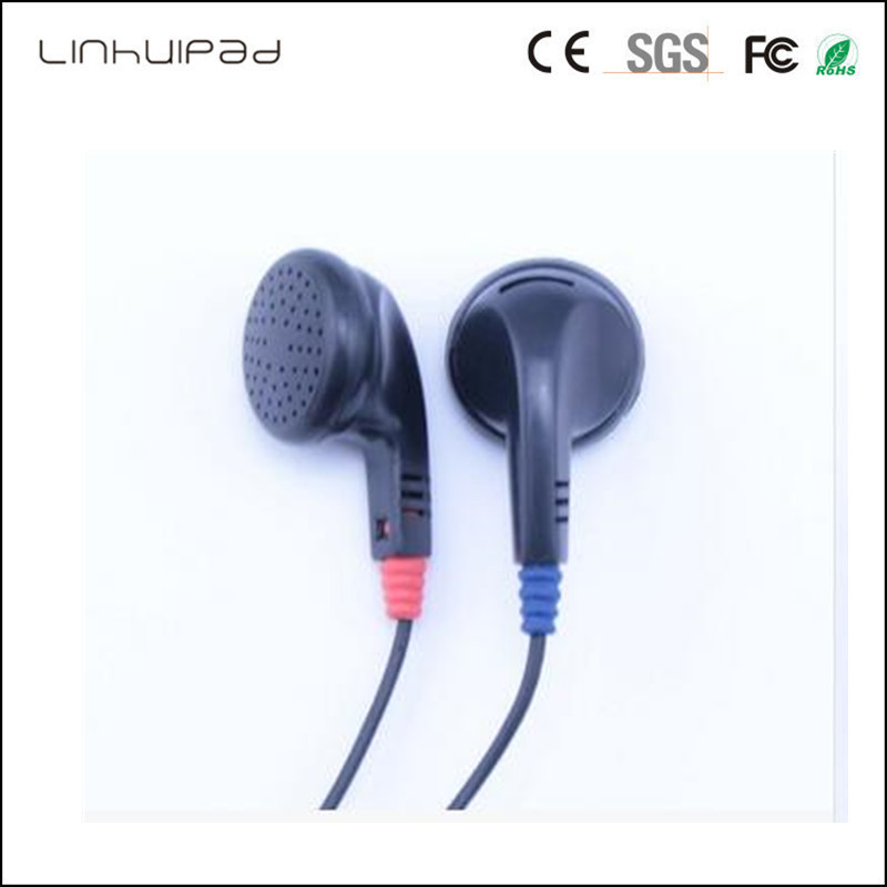 Linhuipad 3.5 MM Black stereo earbuds Dispisable earbuds headsets Cheap earbuds for tourist bus 500pcs/lot image