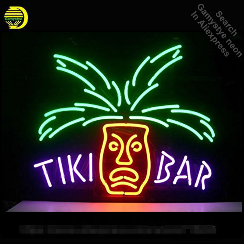 Tiki bar néon enseigne Restaurant néon enseigne Club néon lumières marque LOGO signe verre Tube artisanat emblématique signe affichage lumière vd