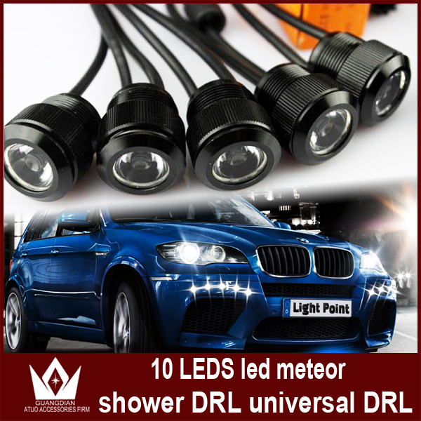 ФОТО Night Lord super White round drl high power eagle eyes led meteor shower Light 10 LED Daytime Running Light Free shipment