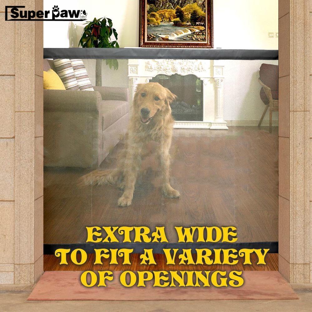 Magic Dog Gate The Ingenious Mesh font b Pet b font Gates For Dogs Safe Guard