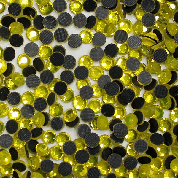 Hotfix Strass For Garment Accessories DMC Citrine Hotfix Rhinestones Round Glass Flatback Rhinestones Many Sizes Hotfix Strass