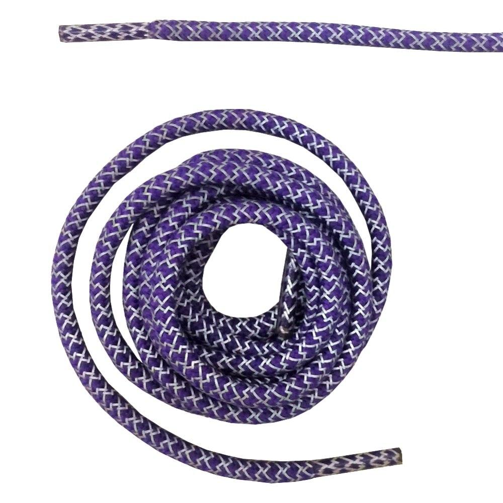 """Круглая веревка 3м Светоотражающие шнурки для ботинок бегуна видимые безопасные шнурки 14 цветов 4"""" /120 см"""
