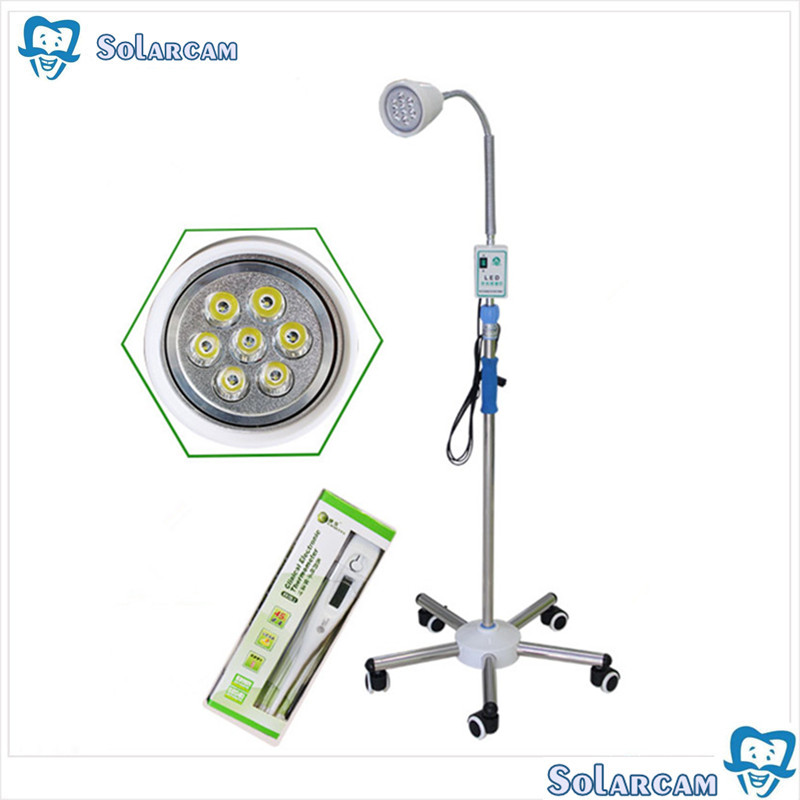 Floor standing mobile surgery 7 lamps 21W LED dental operating cold lightFloor standing mobile surgery 7 lamps 21W LED dental operating cold light