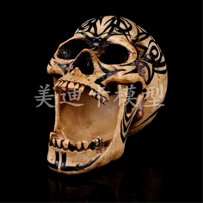 Halloween party tool Medical teaching Resin skull model bar decoration 13*6.5*19cm 1000g free shipping