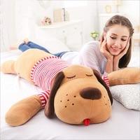 Dolum oyuncak büyük yaklaşık 125 cm kırmızı stripes eğilimli köpek peluş oyuncak yumuşak atın yastık doğum günü hediyesi w5199