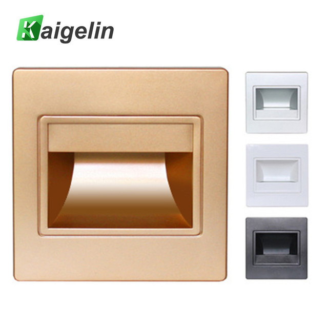 Modern Recessed LED Stair Lights New Square LED Wall Lamps 100 240v 1.5w  Wall