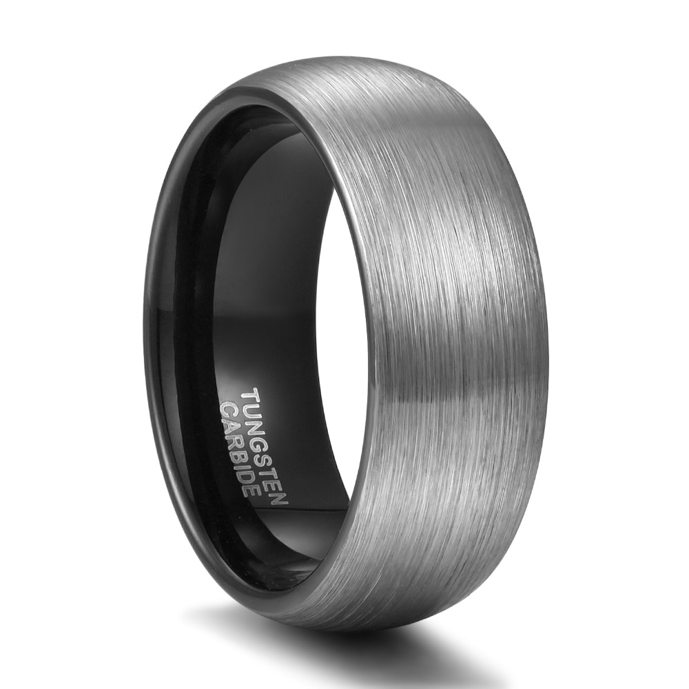 Somen Ring Män Silver 8mm Tungsten Ring Vintage Bröllop Band Man - Märkessmycken - Foto 6