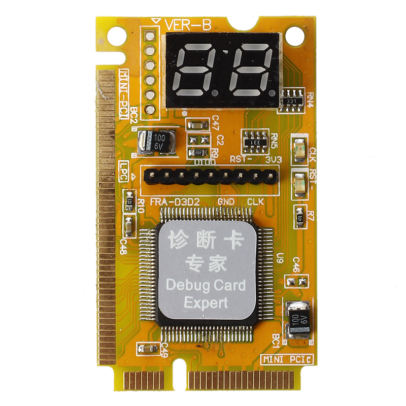 Notebook Diagnostic Card 2-Digit Mini PCI/PCI-E LPC POST Analyzer Tester