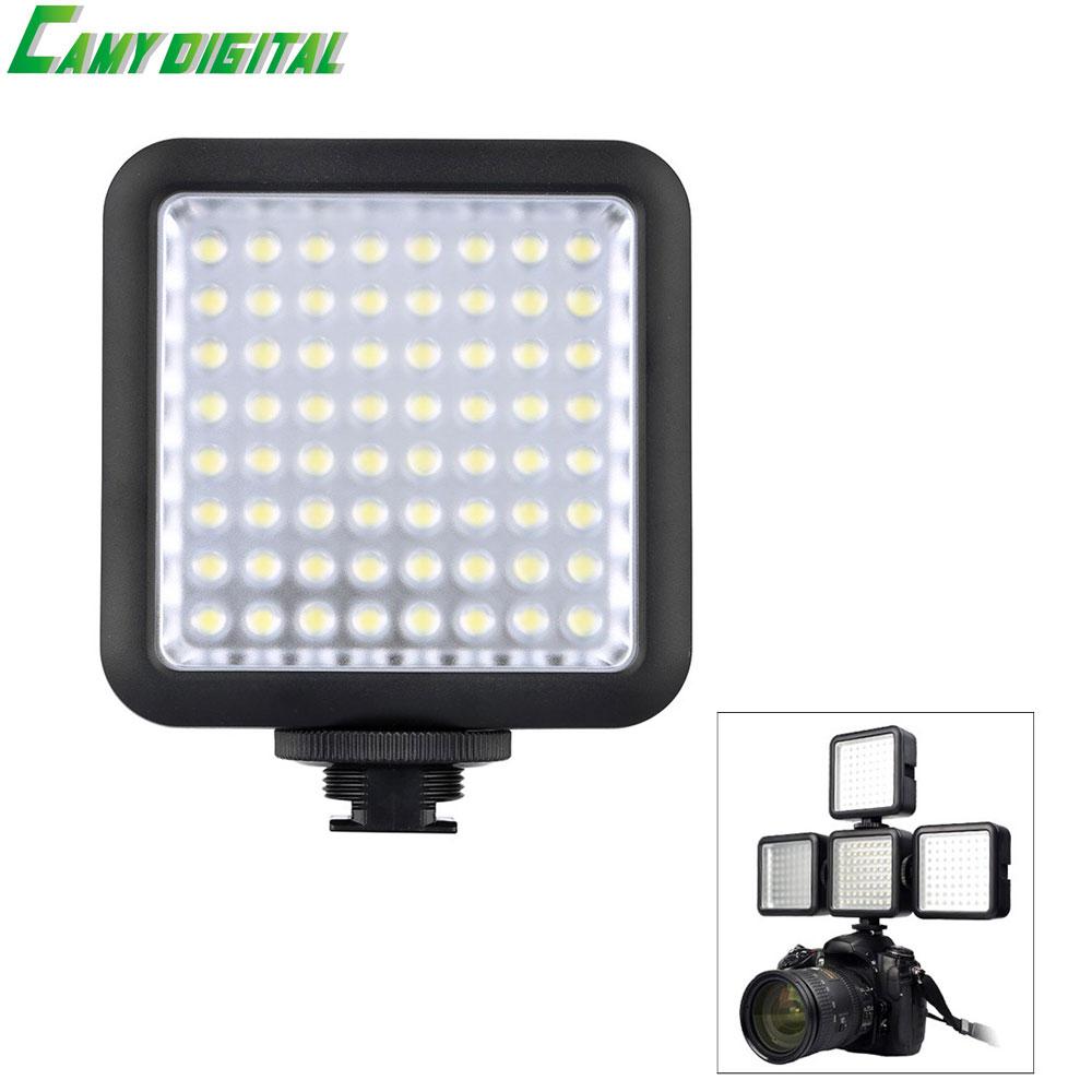 Godox LED64 5500 ~ 6500 Karat Kamera Led-beleuchtung SLR LED64 Video Licht Outdoor Foto Licht für DSLR Kamera Camcorder mini DVR