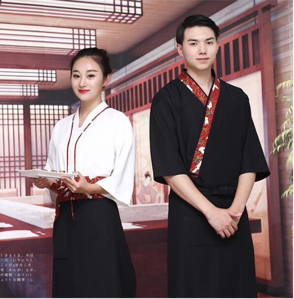 Style japonais homme & femme Restaurant serveuse uniformes été Kimono hommes vêtements de travail