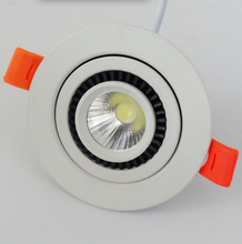 Free Shipping 10W Warm White Cold 360 degree Rotating adjustable Dimmable COB Led Ceiling down light AC85-265V CE