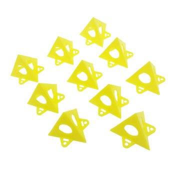 10 Pcs Sarı Ağaç Işleme Ressamın Piramit Standları Boya Aracı üçgen