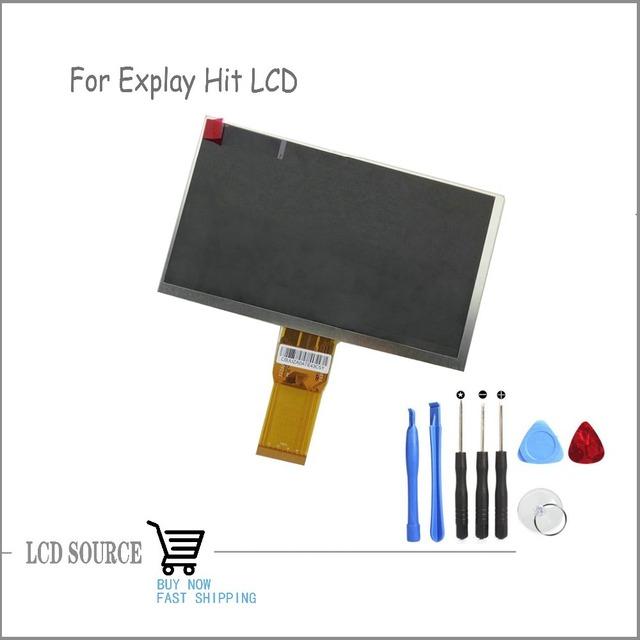 """Lcd original de exibição de matriz 7 """"explay tornado 3g tablet tela lcd módulo do painel de peças de reposição tablet interno"""