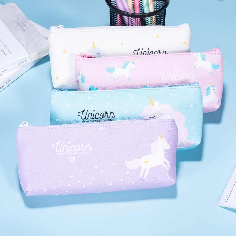 New Unicorn Pencil Student Stationery Pencil Box Gift Cute Stationery Learning Office School Tool Pencil Pencil Box Tool