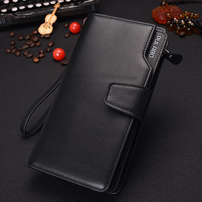 Wallet Men Leather Men Wallets Business Brand Card holder Coin Purse Men's Long Zipper Wallet Leather Clutch carteira masculina hot 2016 new designer brand business black leather men wallets short purse card holder fashion carteira masculina couro qb1268
