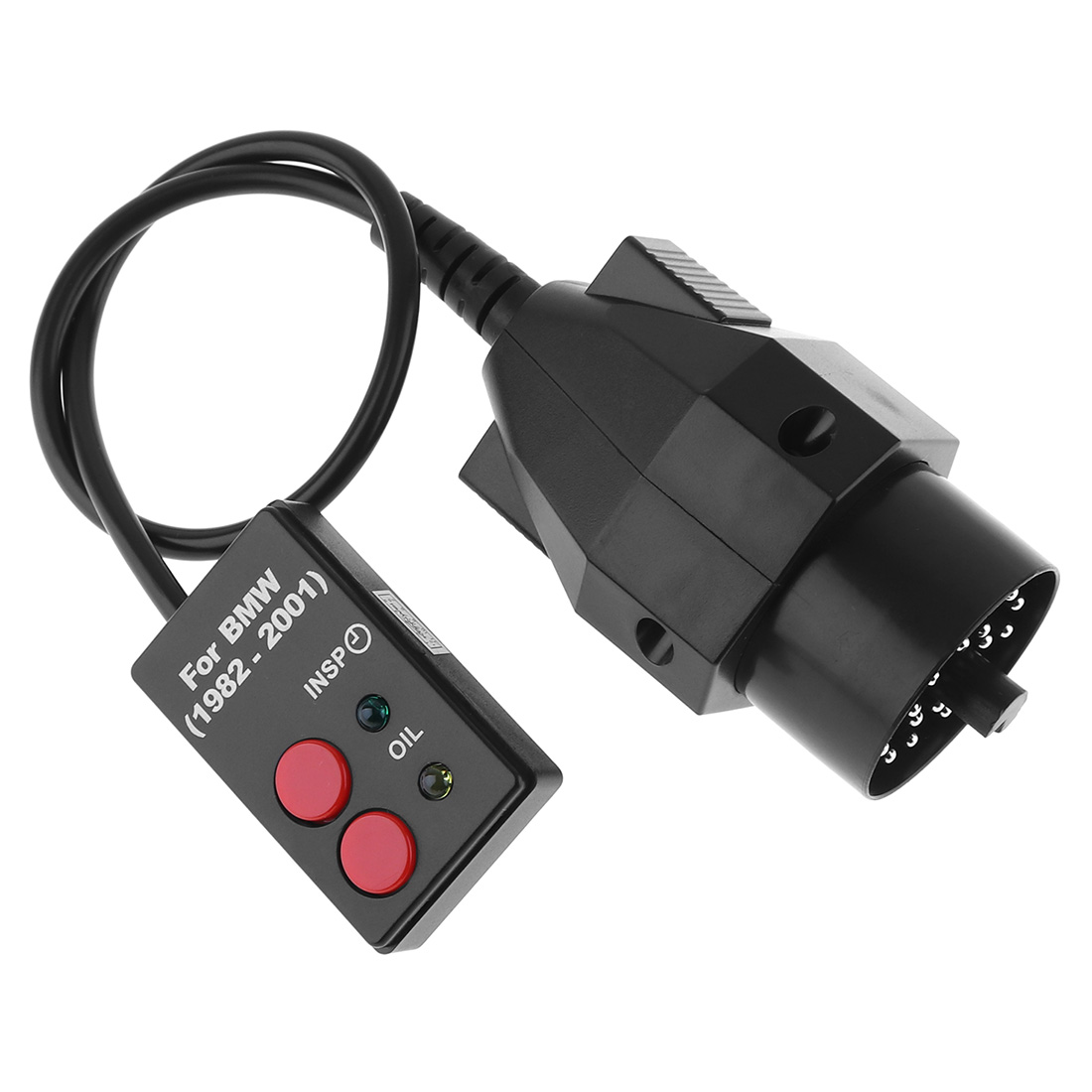 20 Pin 12V ABS Sockets Oil Service Reset Diagnostic Tool With Indicator Light For 1982-2001 BMW