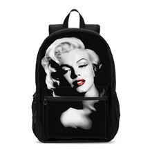 Fashion Marilyn Monroe Children School Backpacks Teenager Girl School Bags Students Laptop Backpack Kids Bookbag Mochila Escolar(China)