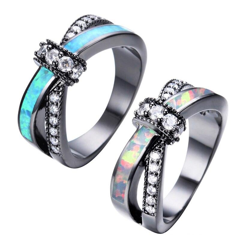 Women Lady Cross Finger Rings Copper Zircon Luxury Wedding Party Engagement Love Rings Jewelry Accessories KQS8