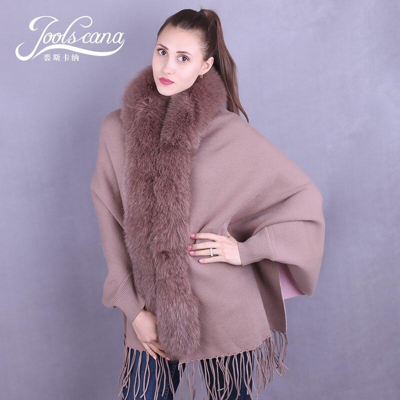 Joolscana женские шарфы шали теплый шарф с лисьим меховым воротником утолщенные пледы парео обертывания одеяла шерстяные кашемировые плащи пал