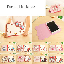 Luxury cover For Ipad Mini 4 Leather Smart Stand Shockproof case 3D hello kitty For apple Ipad mini 1 2 3 4 Tablet case cover